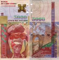"""CAPE VERDE 5000 """"SPECIMEN"""" Escudos From 2000, P67s, UNC - Cap Verde"""