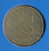 1988 * 5 Gulden  Uit FDC-SET  * NEDERLAND * - [ 3] 1815-… : Royaume Des Pays-Bas