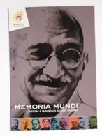 GANDHI Mahatma - Guide Politique Et Spitiruel Indien - Carte Publicitaire Memoria Mundi Montpellier - Politicians & Soldiers