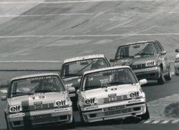 Coupe Renault 5 Elf Turbo 1990 Circuit De Charade - Photo Format 18 X 13 Cm Env. - Cars
