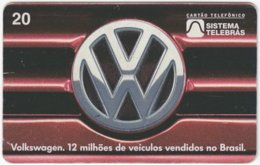 BRASIL J-771 Magnetic Telebras - Traffic, Car, Volkswagen - Used - Brésil