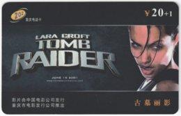 CHINA C-385 Prepaid ChinaTelecom - Cinema, Tomb Raider - Used - China