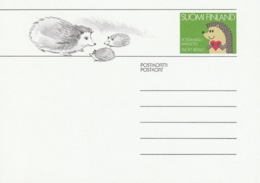 FINLAND 1989 Hedgehog: Pre-Paid Postcard MINT/UNUSED - Finland