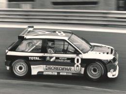 Citroën AX Superproduction 1988 Circuit De Pau Piloté Par Jean Pierre Jarier - Photo Format 24 X 18 Cm Env. - Cars