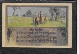 AK 0343  Liederkarte - Das Veilchen / Künstlerkarte V. Fr. Jung Um 1921 - Musik Und Musikanten