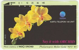 INDONESIA A-342 Magnetic Telekom - Plant, Flower, Orchid - Used - Indonesien
