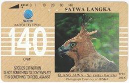 INDONESIA A-351 Magnetic Telekom - Animal, Bird - Used - Indonesien