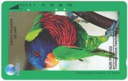 INDONESIA A-352 Magnetic Telekom - Animal, Bird, Parrot - Used - Indonesien