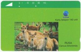 INDONESIA A-354 Magnetic Telekom - Animal, Deer - 140 Units - Used - Indonesien