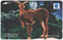 INDONESIA A-367 Magnetic Telekom - Animal, Goat - Used - Indonesien