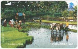 INDONESIA A-370 Magnetic Telekom - Landscape, Field - Used - Indonesien