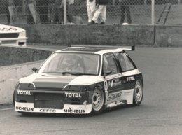 Citroën AX Superproduction 1988 Circuit De Montlhery Piloté Par Jean Pierre Jarier - Photo Format 24 X 18 Cm Env. - Cars