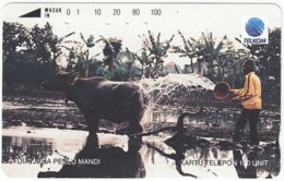 INDONESIA A-371 Magnetic Telekom - Animal, Water Buffalo - Used - Indonesien