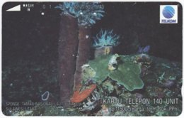 INDONESIA A-384 Magnetic Telekom - Animal, Sea Life - 140 Units - Used - Indonesien