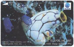 INDONESIA A-385 Magnetic Telekom - Animal, Sea Life - 140 Units - Used - Indonesien