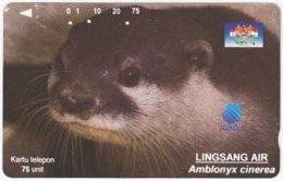 INDONESIA A-389 Magnetic Telekom - Animal, Sea Otter - Used - Indonesien