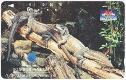 INDONESIA A-390 Magnetic Telekom - Animal, Leguan - Used - Indonesien