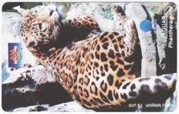 INDONESIA A-391 Magnetic Telekom - Animal, Cat, Leopard - Used - Indonesien