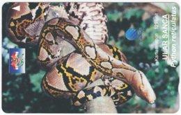INDONESIA A-392 Magnetic Telekom - Animal, Snake - Used - Indonesien