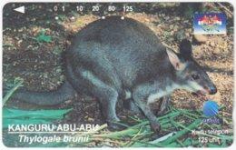INDONESIA A-393 Magnetic Telekom - Animal, Kangaroo - Used - Indonesien