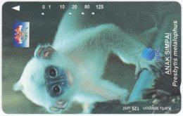 INDONESIA A-396 Magnetic Telekom - Animal, Monkey - Used - Indonesien