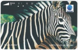 INDONESIA A-407 Magnetic Telekom - Animal, Zebra - Used - Indonesien
