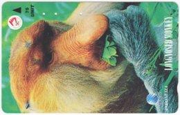 INDONESIA A-408 Magnetic Telekom - Animal, Monkey - Used - Indonesien