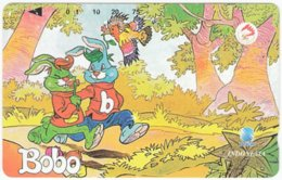 INDONESIA A-410 Magnetic Telekom - Cartoon, Bobo - Used - Indonesien