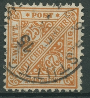 Württemberg Dienstmarken 1890 Ziffer In Schildern 210 Gestempelt - Wuerttemberg