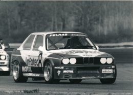 Championnat De France De Supertourisme 1989 - BMW M3 Piloté Par J. P. Malcher - Photos Format 18 X 13 Cm Env. - Cars