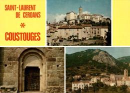 Saint Laurent De Cerdans Coustouge Vue Panoramique Porte De L'eglise Vue Generale  CPM Ou CPSM - Other Municipalities