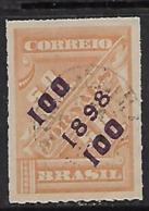 """1898 Brasil S.s.""""100 1898 100""""  Sin Dentar 1v.nuevo - Ungebraucht"""