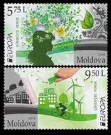 2016Moldova 948-949Europe CEPT 8,50 € - Europa-CEPT