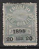"""1898 Brasil S.s.""""1898 20 Reis 20""""  Sin Dentar 1v.nuevo - Ongebruikt"""