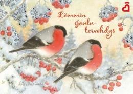 Postal Stationery - Birds - Bullfinches In Winter Landscape - Finnish Heart Association - Suomi Finland - Postage Paid - Finland