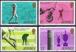 Jersey 1978 - Mi 173/76 - YT 167/70 ( The Golf ) MNH** Complete Issu - Jersey