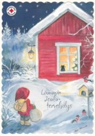 Postal Stationery - Birds - Bullfinches - Elf Bringing Presents - Red Cross 2019 - Suomi Finland - Postage Paid - Finland