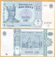 2017 2015  Moldova ; Moldavie ; Moldau    5 LEI   552203 - Moldavia