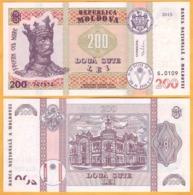 2017 2015 Moldova ; Moldavie ; Moldau    200 LEI   741514 UNC - Moldavië