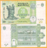 2017 2015  Moldova  Moldavie  Moldau UNC  20 LEI   924685 - Moldavië