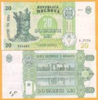 2017 2015  Moldova  Moldavie  Moldau UNC  20 LEI   924685 - Moldavia
