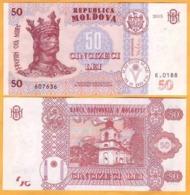 2017 2015 Moldova ; Moldavie ; Moldau    50 LEI   607636 UNC - Moldavia
