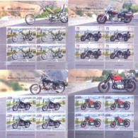 2019. Kyrgyzstan, Motorcycling In Kyrgyzstan, 4 Sheetlets, Mint/** - Kirgisistan