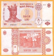 2013 Moldova ; Moldavie ; Moldau    10 LEI   898569 - Moldavië