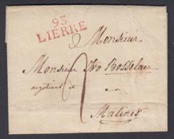 Belgique 1873 - Précurseur De Lierre (93) à Malines .................  (BE) DC-4326 - Belgique