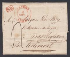 Belgique 1837 - Précurseur D'Anvers à Bas-Heylissen Par Tirlemont.......  (BE) DC-4332 - Belgique
