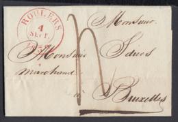 Belgique 1839 - Précurseur De Roulers à Bruxelles.....  (BE) DC-4338 - Otros