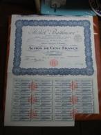 Actions - Hôtel Baltimore à Paris (75) - 1er Août 1924 - Action Au Porteur - Tourism