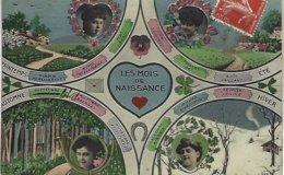 Les Mois De Naissance-carte Carton Glacé - Autres