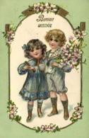 Enfants Fleurs Decor Fleurs Gauffrée RV - Scènes & Paysages